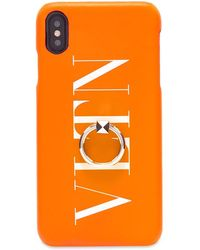 Valentino Fluo Vltn Iphone Xs Max Case - Orange