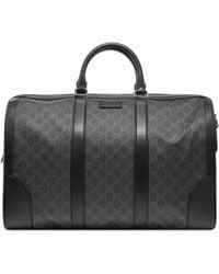 Gucci GG Supreme Duffel Bag - Black