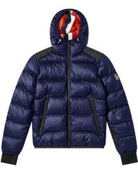 3 MONCLER GRENOBLE Hintertux Hooded Down Ski Jacket - Blue