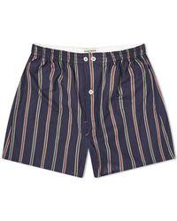 Anonymous Ism Stripe Boxer Short - Blue