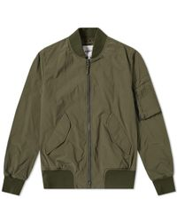 Aspesi Tech Nylon Ma-1 Bomber Jacket - Green