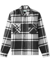 7a684c78188f Off-White c o Virgil Abloh - Stencil Diagonals Checked Flannel Shirt - Lyst