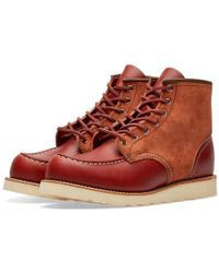 """Red Wing 8819 Heritage Work 6"""" Moc Toe Boot - Brown"""