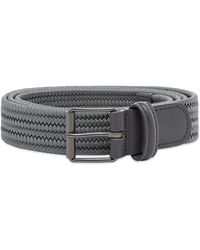 Andersons Anderson's Slim Woven Textile Belt - Gray