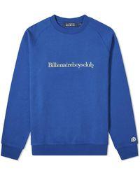 BBCICECREAM Embroidered Logo Crew Sweat - Blue