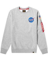 Alpha Industries Space Shuttle Sweatshirt - Gray