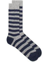 Howlin' By Morrison Howlin' Cosmonaut Stripe Sock - Blue