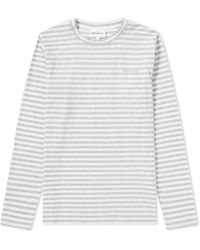 Norse Projects - Long Sleeve James Logo Stripe Tee - Lyst