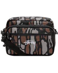 Stussy Tree Bark Shoulder Bag - Brown