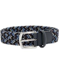 Andersons Anderson's Woven Textile Belt - Blue