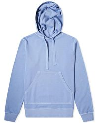 Officine Generale Pigment Dyed Olivier Hoody - Blue