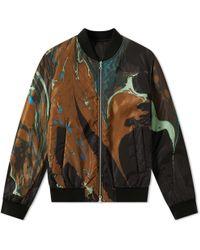 Dries Van Noten Reversible Marble Print Jacket - Black