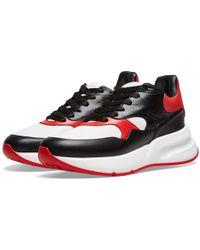 Alexander McQueen - Wedge Sole Leather Sneaker - Lyst