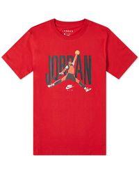 Nike Air Jordan Jumpman Graphic Tee - Red