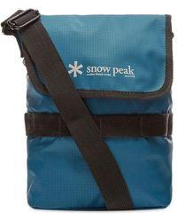 Snow Peak Mini Shoulder Bag - Blue