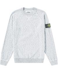 Stone Island - Cotton Nylon Rosato Crew Neck Knit - Lyst