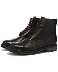 grenson joseph commando sole toe cap boot