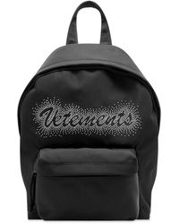 Vetements Small Studded Logo Backpack - Black