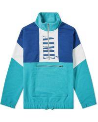 Aimé Leon Dore Colour Block Quarter Zip Pullover Jacket - Blue