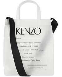 KENZO Pvc Show Invite Tote Bag - White