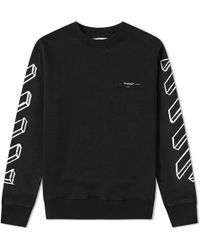 Off-White c/o Virgil Abloh Diagonal Marker Arrows Crew Sweat - Black