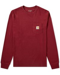 b9bf5546fe6231 Fred Perry X Nigel Cabourn Long Sleeve Training Pique Shirt in Blue ...
