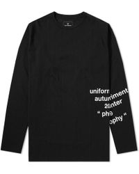 Uniform Experiment - Long Sleeve Over Print Tee - Lyst