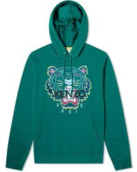 KENZO Embroidered Tiger Hoodie - Green