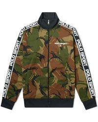 Polo Ralph Lauren - Polo Ralph Lauren Camo Taped Track Jacket - Lyst