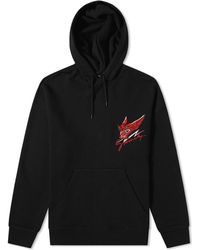 Givenchy Monster Head Embroidered Hoody - Black