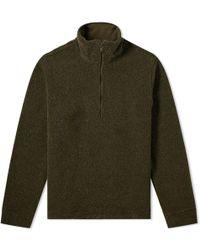 A.P.C. Top Beaver Half Zip Sweat - Green