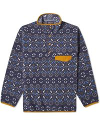 Patagonia Ms Synch Snap T P O Tundra Cluster New Navy - Blue