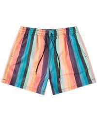 Paul Smith Artist Stripe Swim Short - Blue