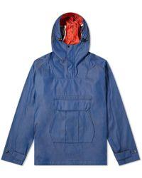 Junya Watanabe Chambray Camo Popover Hooded Jacket - Blue