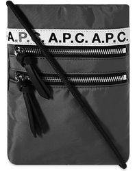 A.P.C. Repeat Neck Pouch - Black