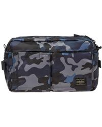 Head Porter Jungle Camo Waist Bag - Blue