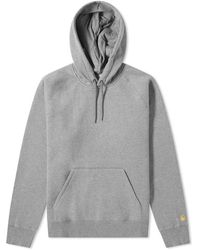 Carhartt WIP Hooded Chase Sweat - Gray