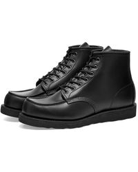 """Red Wing 8137 Heritage Work 6"""" Moc Toe Boot - Black"""