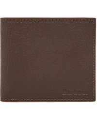 Barbour - Grain Leather Billfold Wallet - Lyst