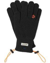 ADER error Dust Bag Detail Gloves - Black