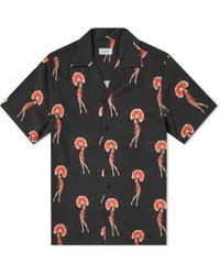 Saturdays NYC - Short Sleeve Canty Flapper Shirt - Lyst