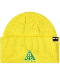 Nike Acg Small Logo Beanie - Yellow