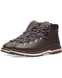 Moncler Peak Leather Hiking Boot - Brown
