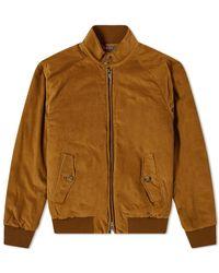 Baracuta G9 Corduroy Harrington Jacket - Brown