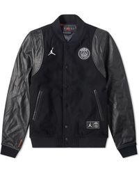 Nike Air Jordan X Psg Varsity Jacket - Black