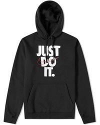 2c92ab53 Lyst - Nike Sportswear Just Do It Fleece Zip Hoodie in Black for Men