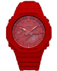 G-Shock Casio Ga-2100 New Carbon Watch - Red