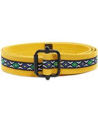 Stussy Woven Taped Web Belt - Yellow