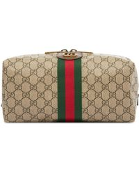 Gucci Ophidia GG Wash Bag - Brown