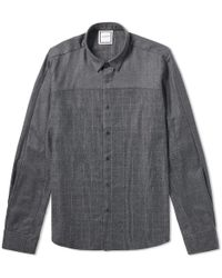 Wooyoungmi - Wool Check Panel Shirt - Lyst